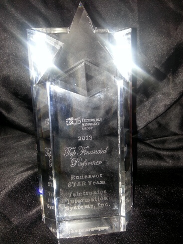 Top Financial Performer Award from TAG